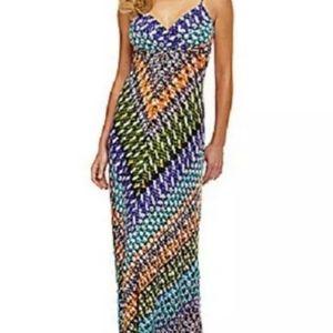 Calvin Klein Multicolor Maxi Dress Size 8